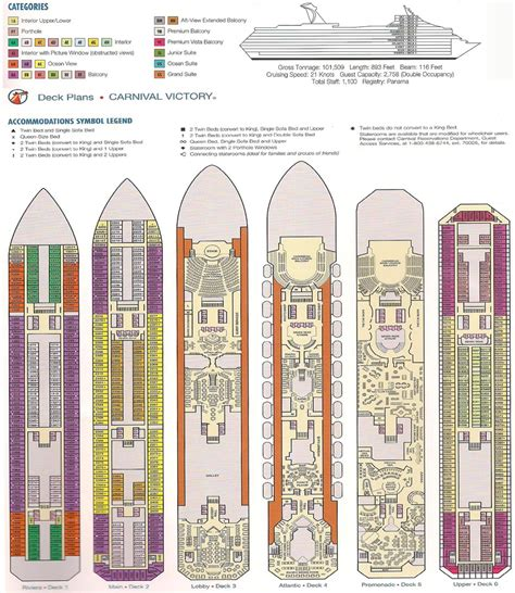 Carnival Deck Plans Pdf by Carnival Victory 2013 Deck Plans Carnival Victory Deck