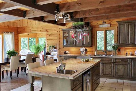 transformer cuisine rustique cuisine moderne le bois