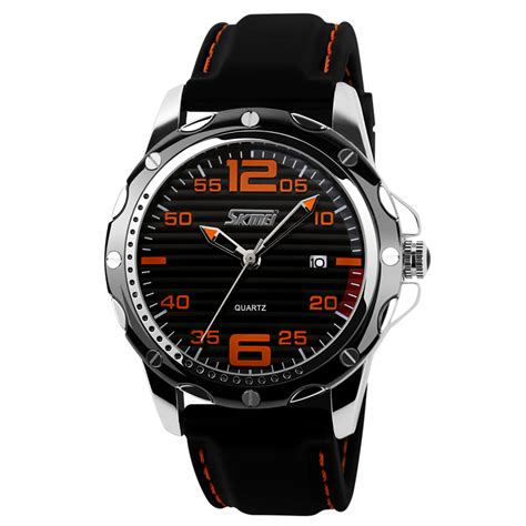 skmei jam tangan analog skmei jam tangan analog pria silicone 0992c