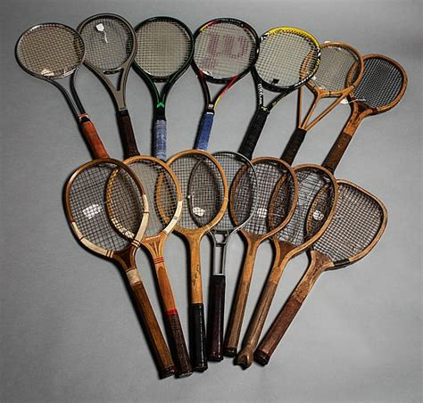 evolution   tennis racket  collection   lawn