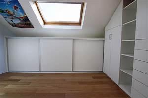 Penderie Sur Mesure : penderie sous comble beautiful meuble long en carton ~ Zukunftsfamilie.com Idées de Décoration
