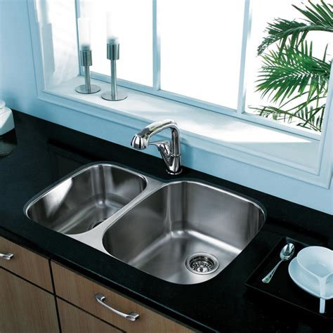 kitchen bath collection vanities 20 quot au courant quot stainless steel sinks abode