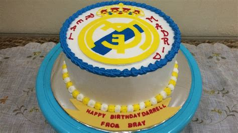Buttercream Transfer Real Madrid Cake Decorating