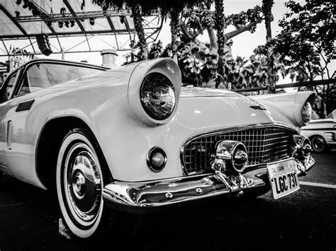 Man, Black And White, Retro, Classic Car