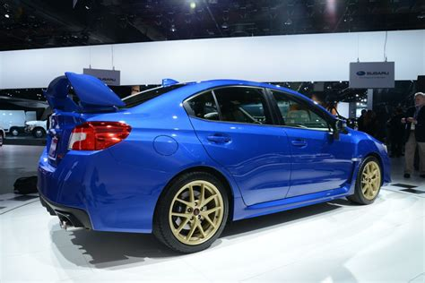 subaru wrx sti revealed  power  advanced
