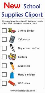 Shopping Checklist Make Your Own List Mobile Or Printed School Supplies