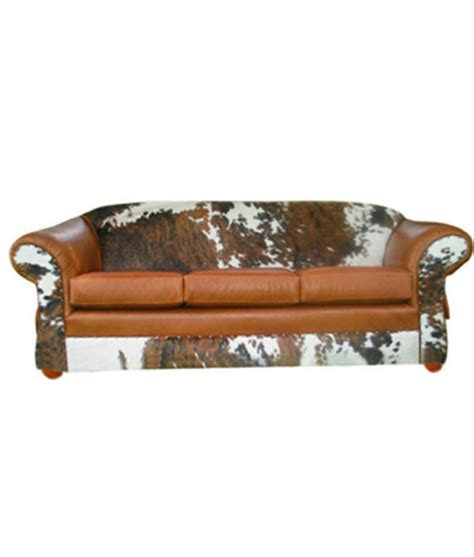 Cowhide Leather Sofa by Cowhide And Leather Sofa Western Rustic Furniture