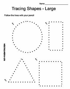 Tracing shapes - free Classroom crafts Pinterest