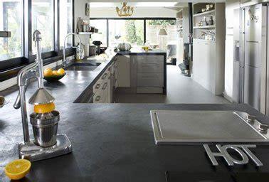 rénovation plan de travail cuisine béton ciré refaire plan de travail cuisine avec béton ciré mercadier