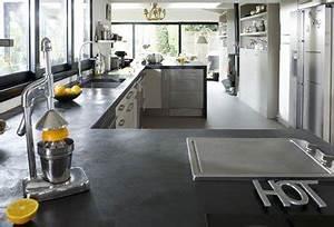 refaire plan de travail cuisine avec beton cire mercadier With refaire plan de travail cuisine carrelage