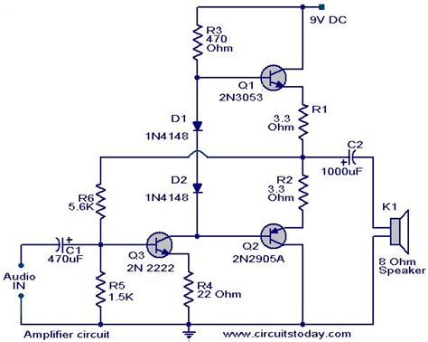 Low Cost Amplifier Circuit Using Three Transistors
