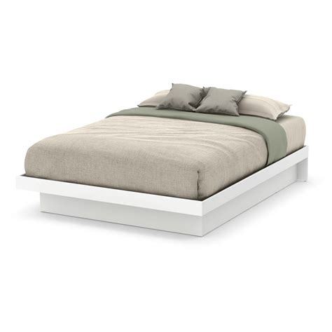 South Shore Basics Platform Bed by South Shore Basic Platform Bed In White 10160