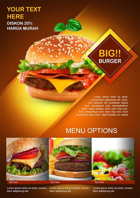 create burger promotion flyer photoshop tutorial hd
