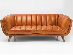 3 seater leather sofa bruno by kare design With canapé en cuir vintage