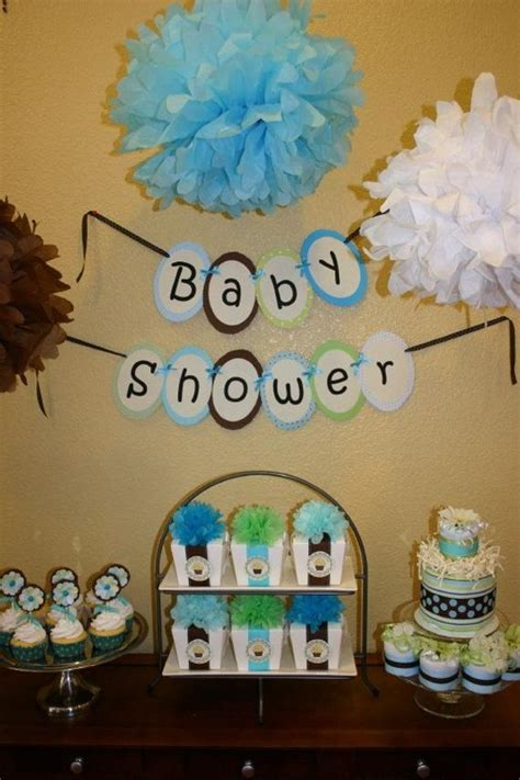 baby boy shower party decoration package diaper cake