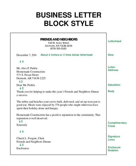 block style letter business letter 13 free word pdf documents