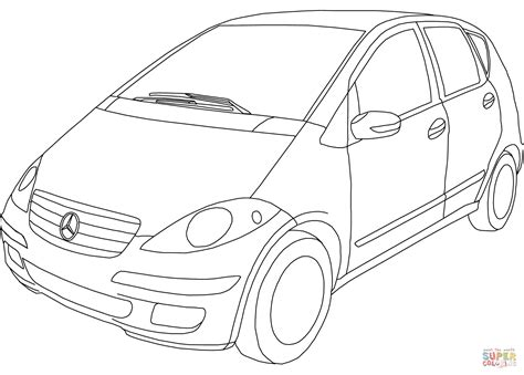 Mercedes A Class Coloring Page