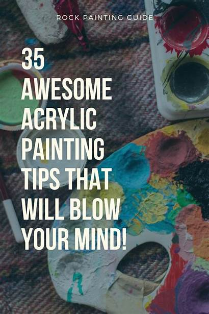 Acrylic Painting Paint Canvas Beginners Awesome Rock