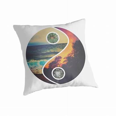 Chill Vibes Yang Pillows Redbubble Sweetfx Throw