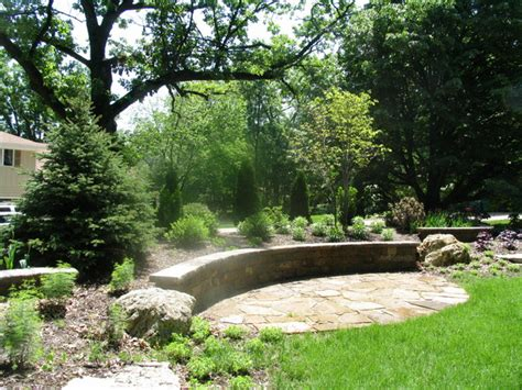 landscape berm design st charles screening berm traditional landscape chicago by nelson design associates inc