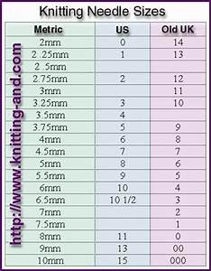 knitting needle size chart (metric, us and uk) | Crochet ...