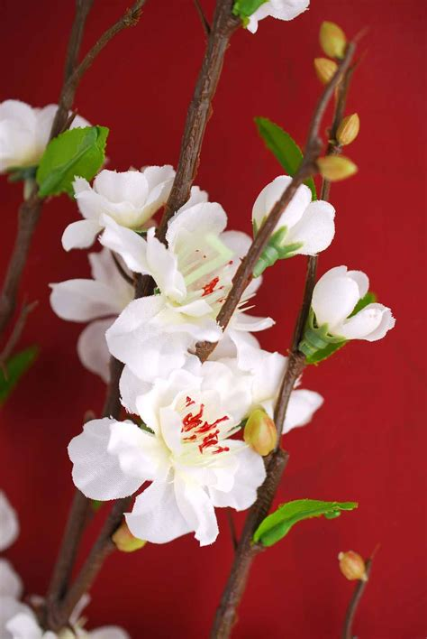 "White Silk Cherry Blossom Branches 39"" (With images"