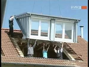 Dachgaube Mit Balkon Kosten : dachgauben einbau an einem tag mit sps gauben youtube ~ Lizthompson.info Haus und Dekorationen