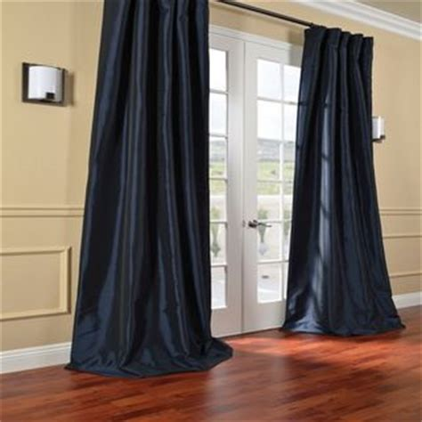 navy blue curtains blue curtains and silk taffeta on