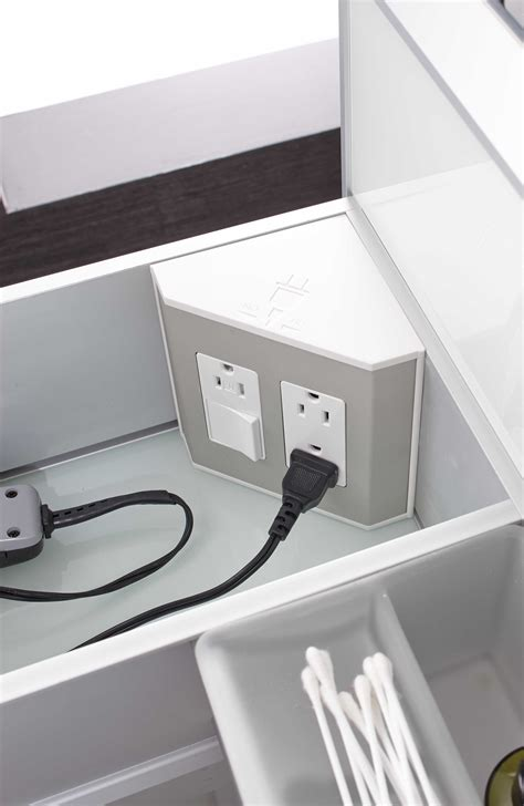 drawer electrical outlets  bathroom drawers