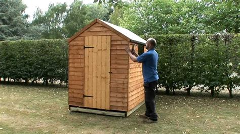 build  garden shed   wooden base youtube