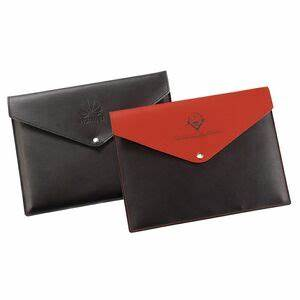 recycled leather document holder 8215 ideastage With promotional document holders