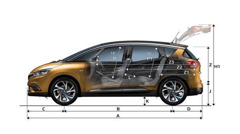 dimension coffre scenic 2 dimensions all new scenic cars renault uk