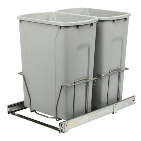 in cabinet trash can roll out real solutions for real life 18 75 in h x 14 38 in w 22