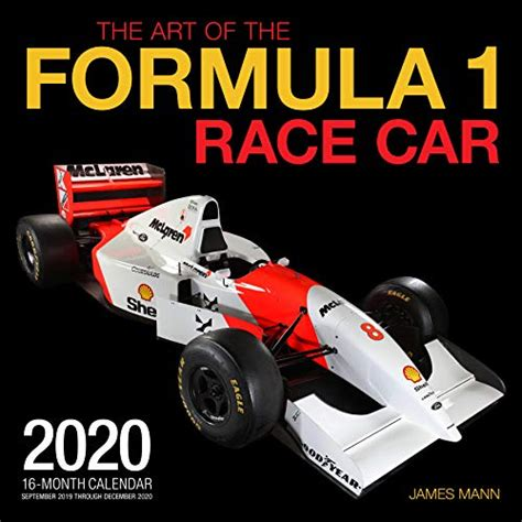 art formula race car month calendar includes