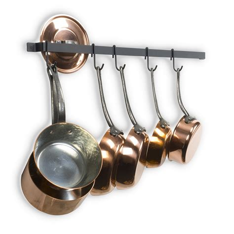 Kitchen Hooks For Pot Holders by Cookware Wall Mount Hanging Pot Pan Rack Kitchen Organizer