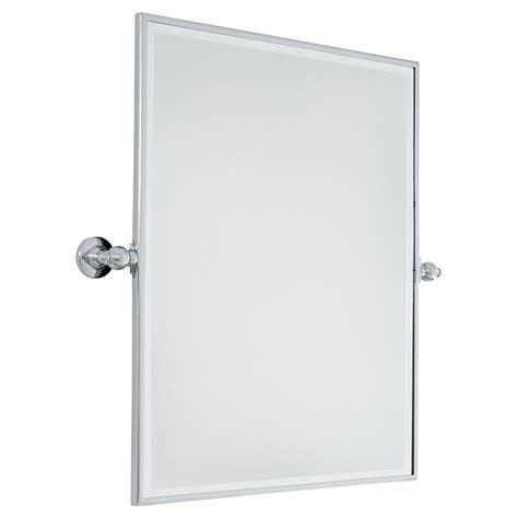 pivot bathroom mirror chrome 30 inch xl polished chrome rectangular pivoting mirror