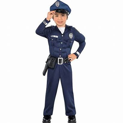 Costume Cop Boys Toddler Muscle Costumes Party
