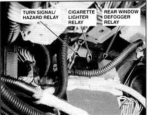 Rear Window Defrost Relay Location  Which Relay Is The