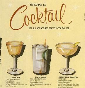 Vintage 1950s Cocktail Placemat