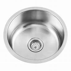 Round Stainless Steel Undermount Bar Sink  Kitchen