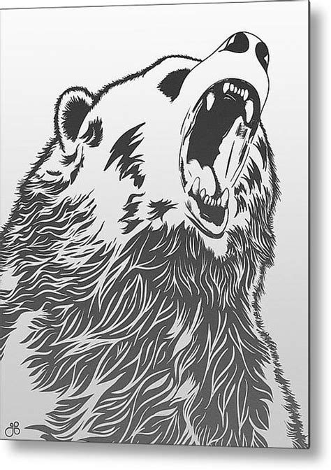 Angry Bear Metal Print By Guillaume Bachelier   Proyectos que intentar   Bear art, Angry bear, Art