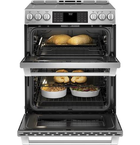 ge cafe series chsselss    front control induction  convection double oven