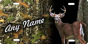 personalized novelty license plate deer hunter camo ...