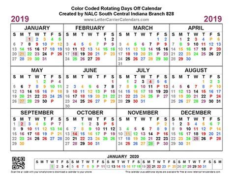 letter carrier calendars