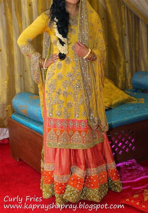 heavy work pakistani mehndi dresses