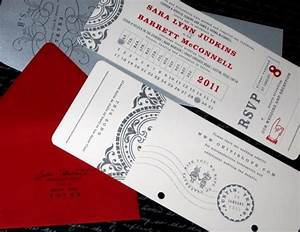 invite idea you can tear the rsvp card off like a ticket With wedding invitations tear and send