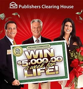 PCH Win $5000 a week for life Sweepstakes - Sweeps Maniac