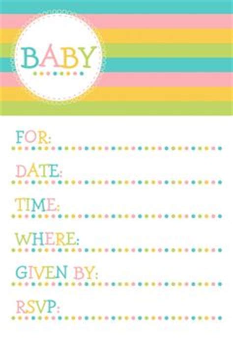 printable baby shower invitations images