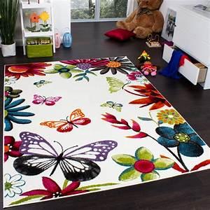 Tapis Ikea Vert : tapis chambre d 39 enfant papillons multicolore cr me rouge orange vert bleu tapis enfants ~ Teatrodelosmanantiales.com Idées de Décoration