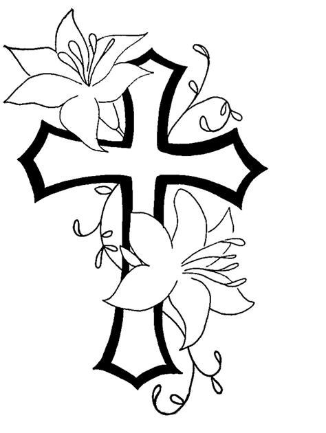 cross  flower tat design clipart  clipart